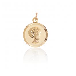 Colgante medalla Virgen Niña Oro 18k