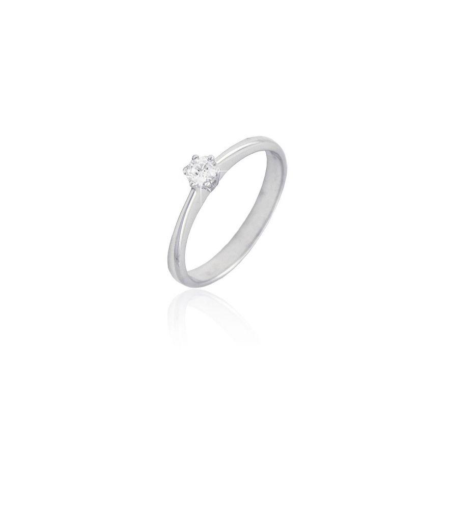 9bfd82a92422 Anillo solitario Oro blanco 18 kts y diamante