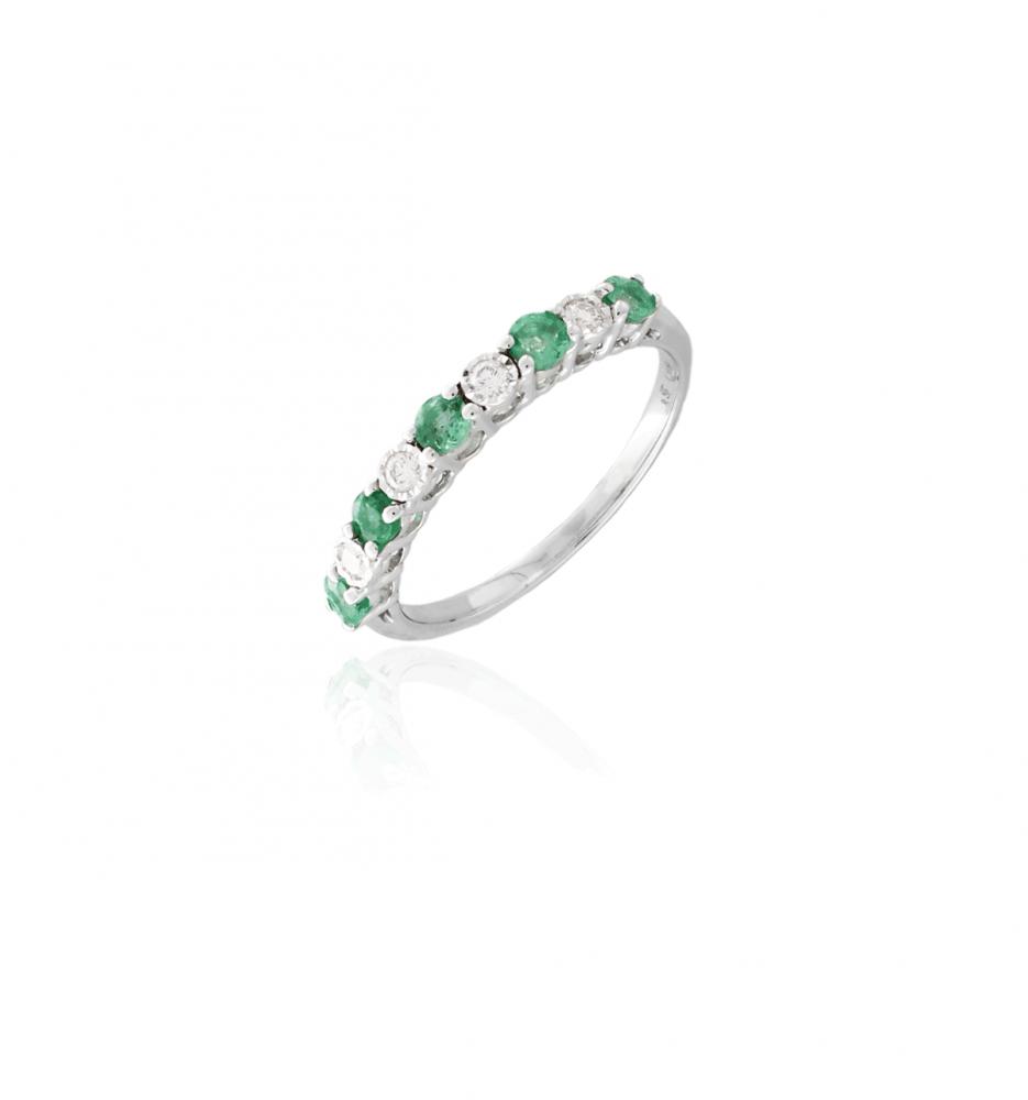 44abbc77bf6f Anillo Oro 18k diamantes y esmeraldas