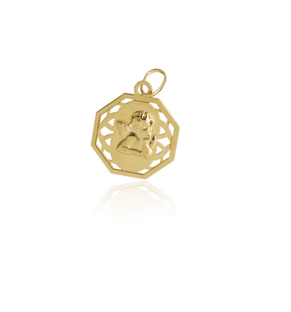 e79b1d4c1 Colgante Oro 18k medalla angelito - Bebé   Infantil - Joyas