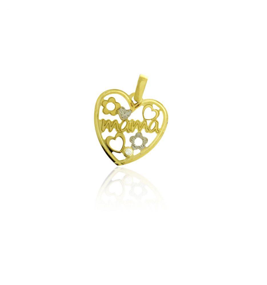 cc89ee7040fd Colgante Oro 18 kts corazón mamá Roselin