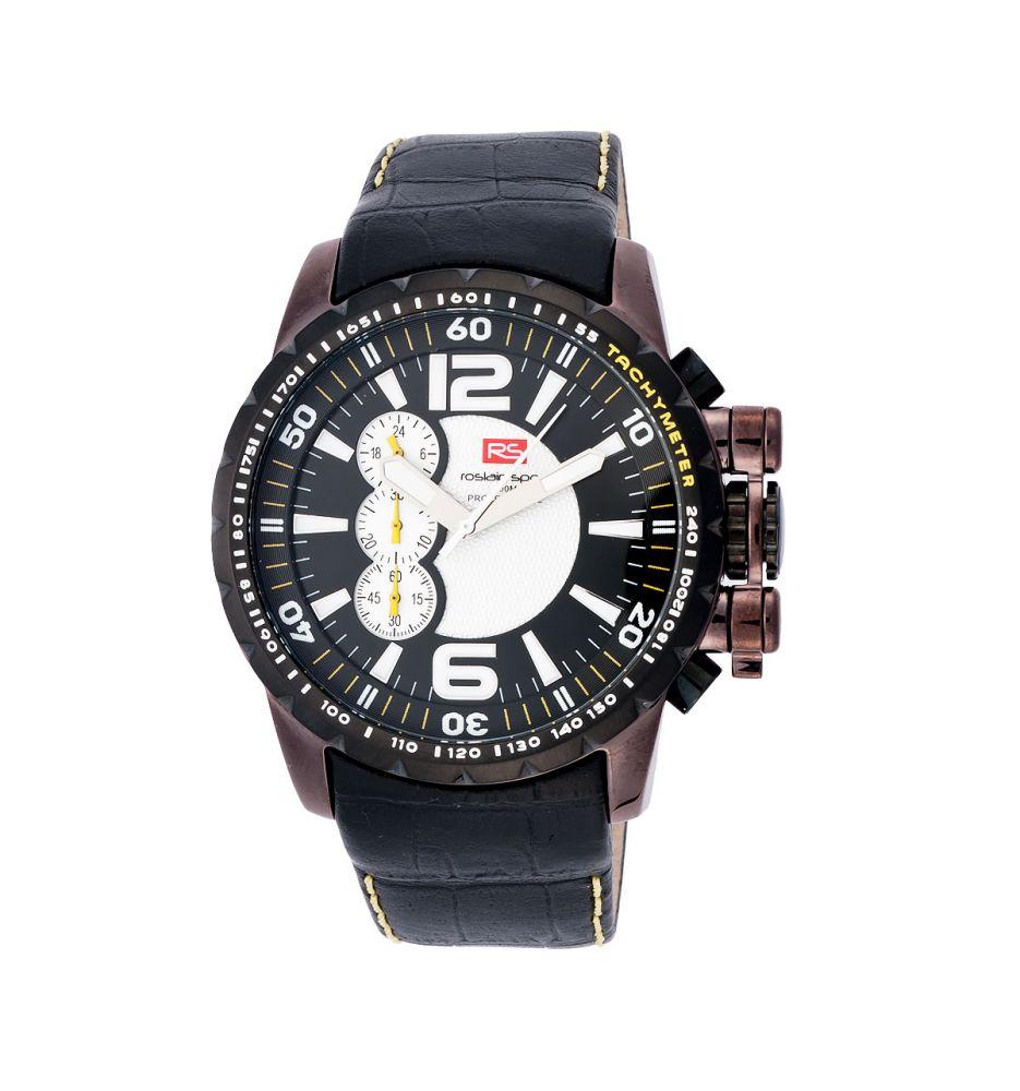 017cec079061 Reloj acero y piel cronógrafo RS Roslain Sport - Relojes