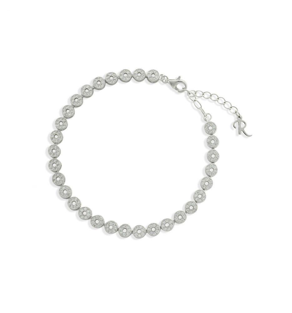 4b8f9ba1b55d Pulsera plata y circonitas