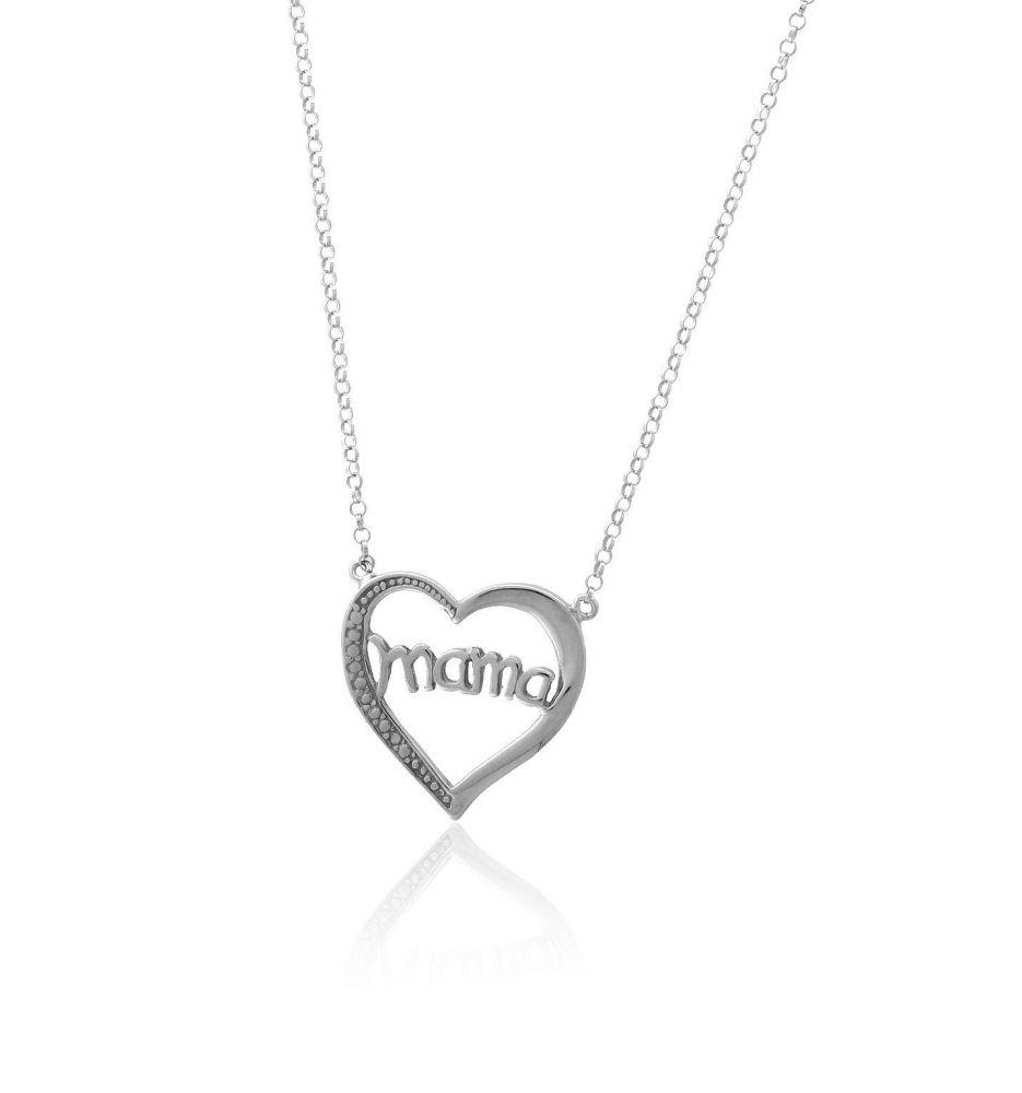 15a1b4c8f5d1 Gargantilla plata mamá corazón