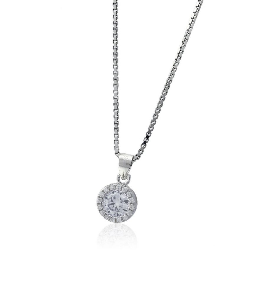 01367e457706 Gargantilla plata piedra Roselin