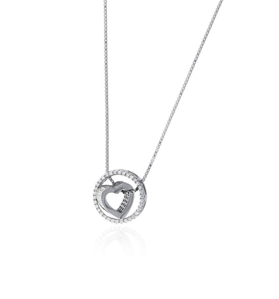713b79ebe730 Gargantilla plata corazón aro Roselin