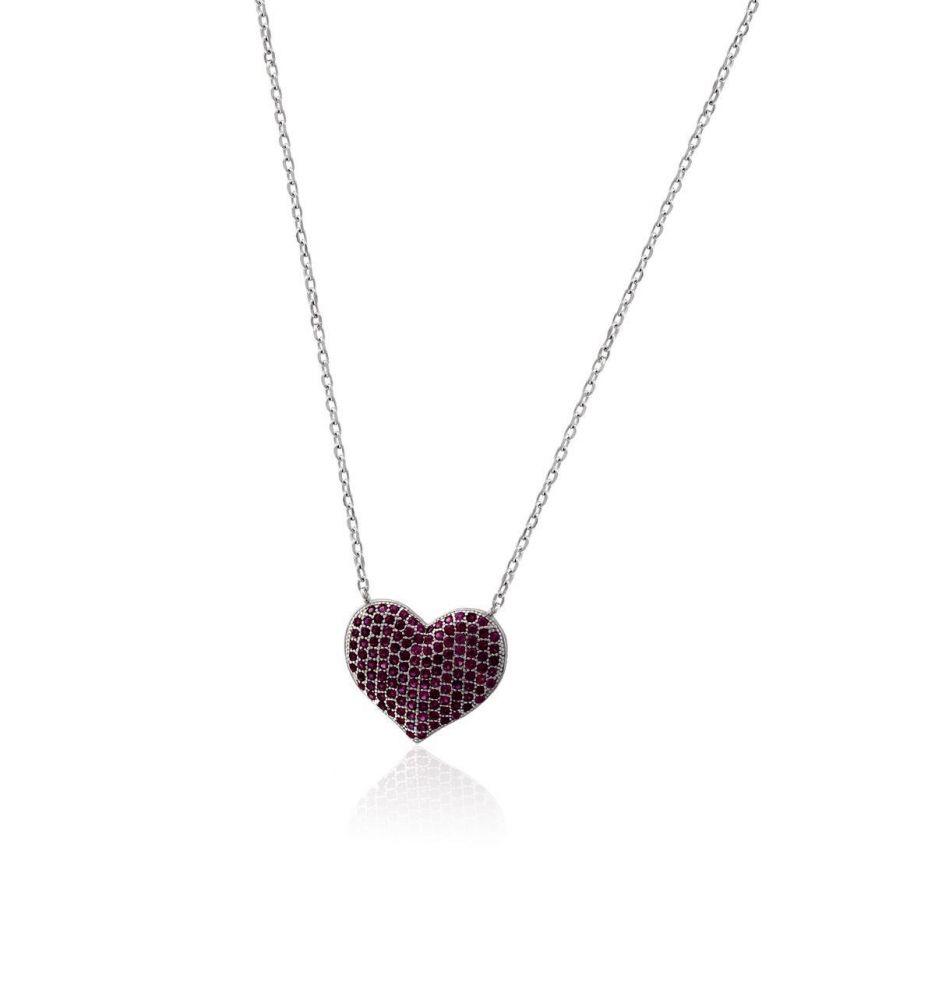 de4afddcbda3 Gargantilla plata corazón Roselin