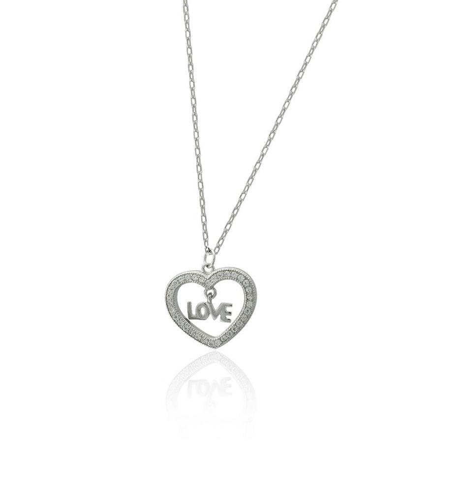 4d7bd29cddf9 Gargantilla plata corazón love