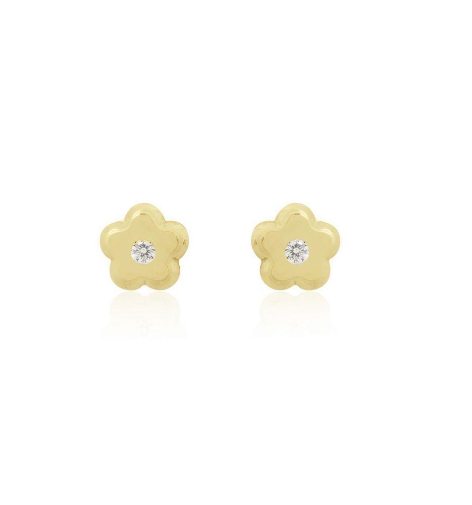 7e14f8b42971 Pendientes bebé Oro 18 kts y diamante Roselin
