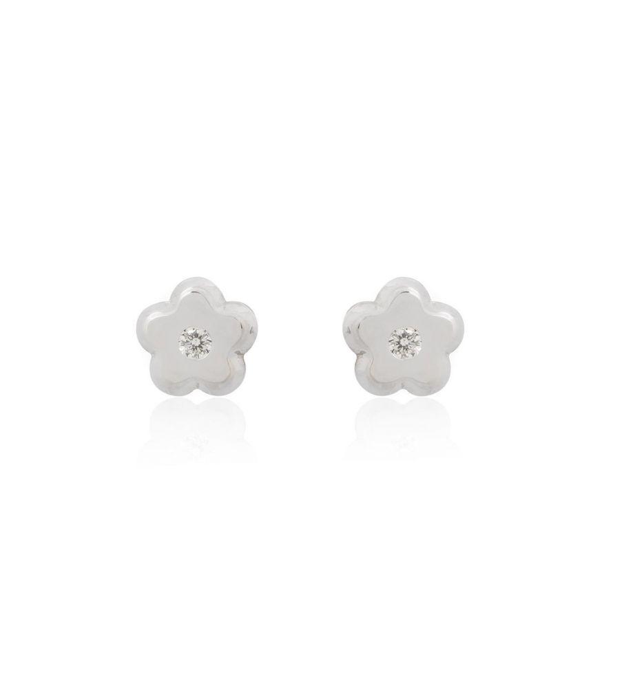 139f88cc0636 Pendientes bebé Oro blanco 18k y diamante