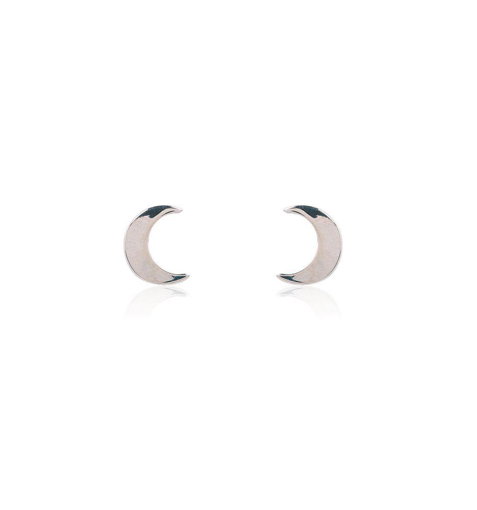 diseño atemporal e30ce 342a2 Pendientes plata luna