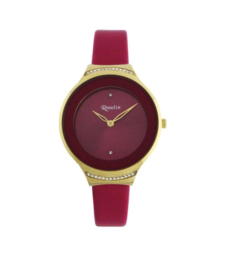 e3611a56e770 Reloj mujer piel acero y circonitas Roselin Watches - Relojes