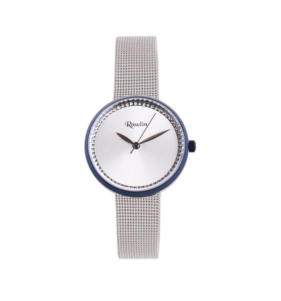 1773ef307651 Reloj mujer malla acero y circonitas Roselin Watches - Relojes