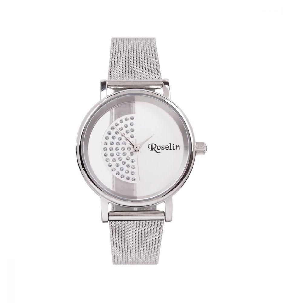 2e28f9ad4295 Reloj Malla Acero y circonitas Roselin Watches