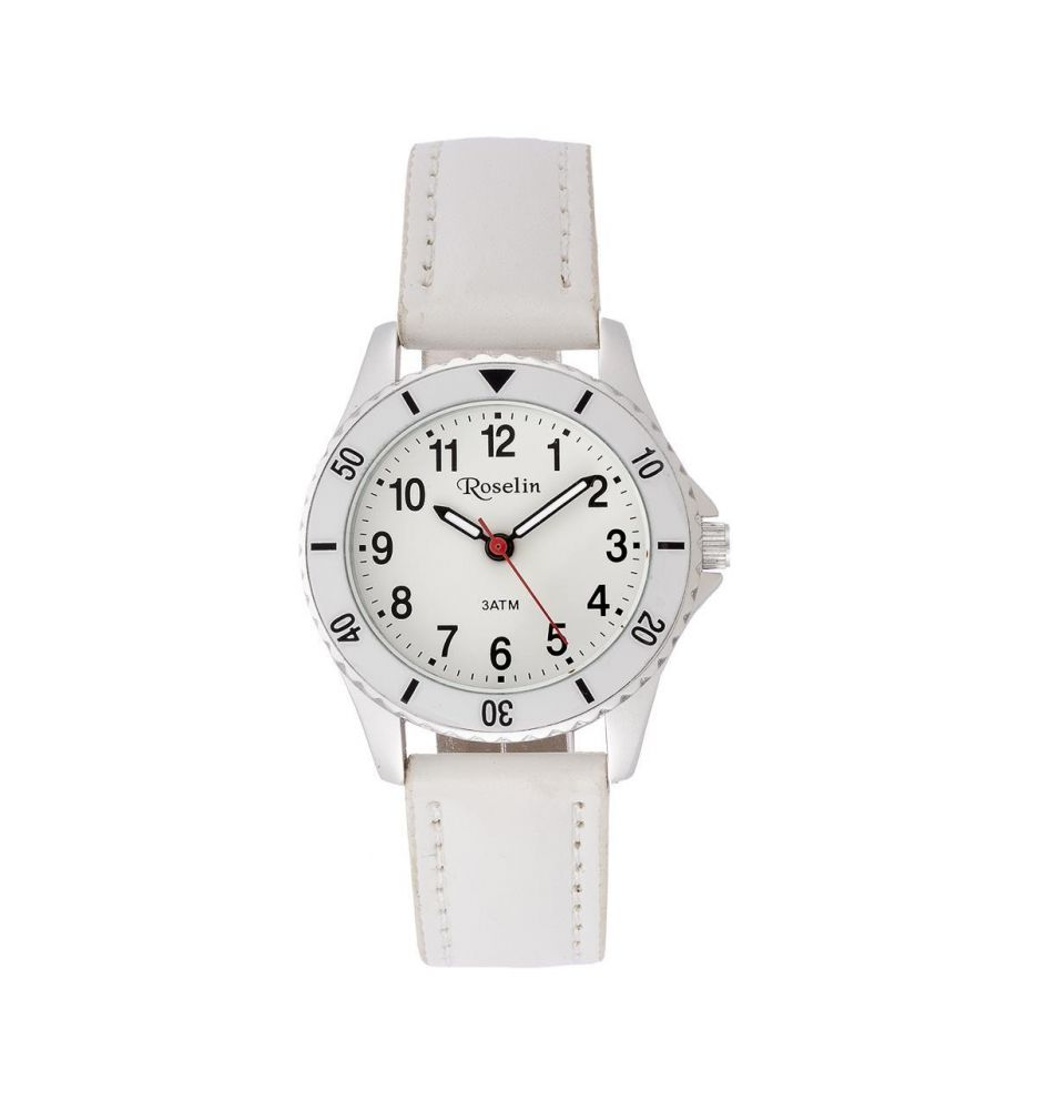 0172ab5aa94e Reloj infantil piel blanco Roselin Watches - Relojes