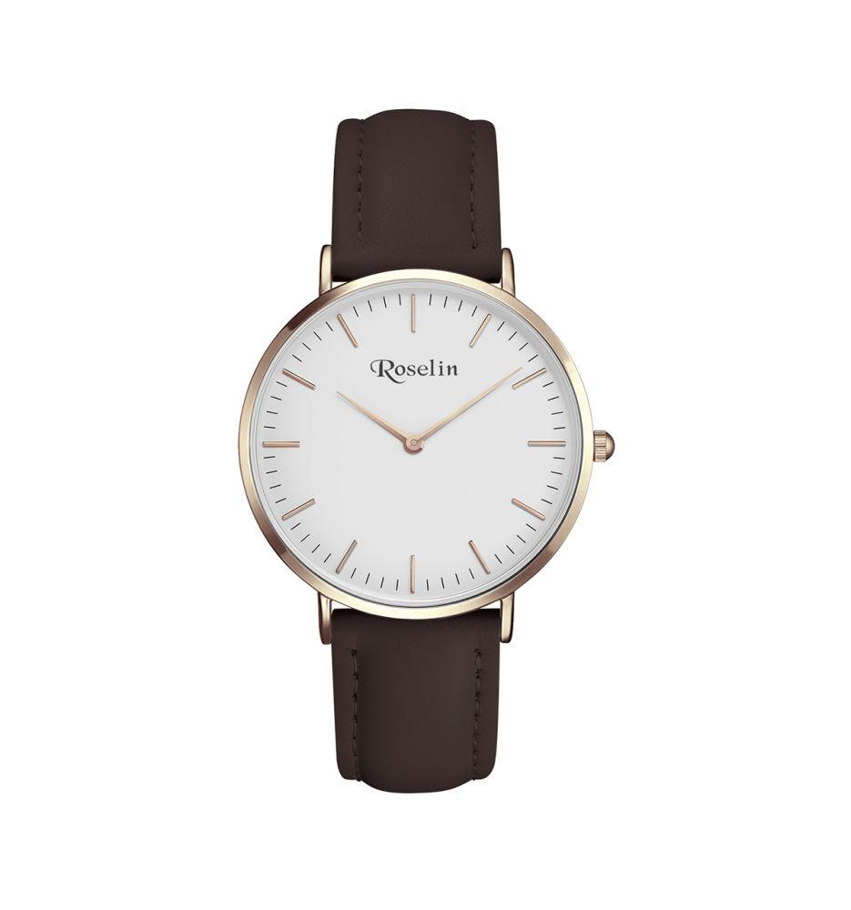 0f55fb514a8c Reloj hombre piel y acero Roselin Watches - Relojes