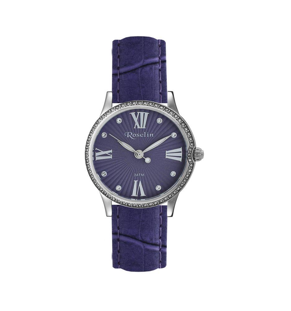 205e908ce398 Reloj mujer piel y circonitas Roselin Watches - Relojes
