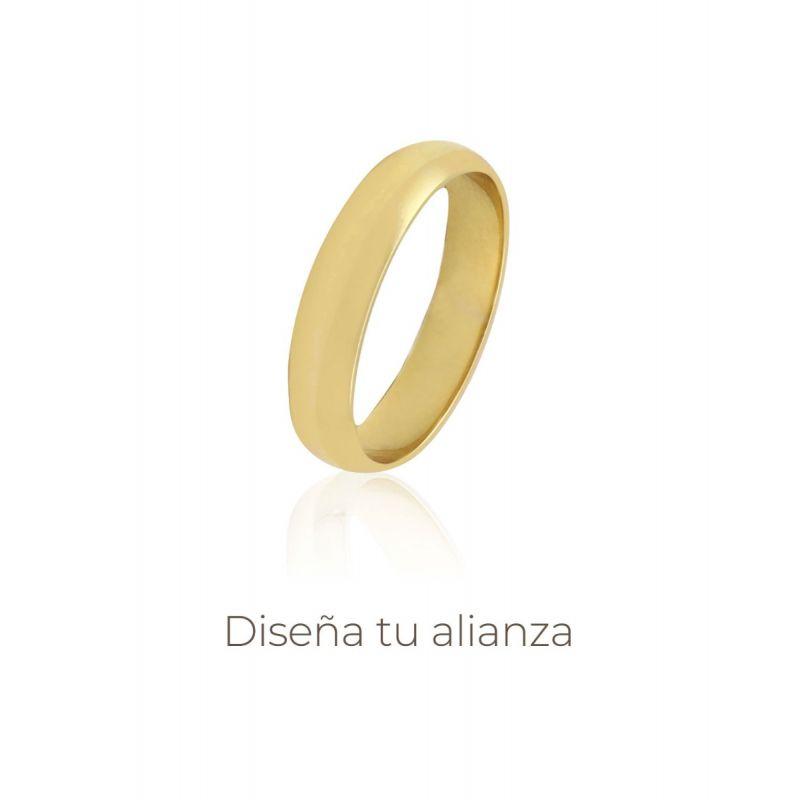 Alianza Oro Media Caña 4 Mm Artesanal