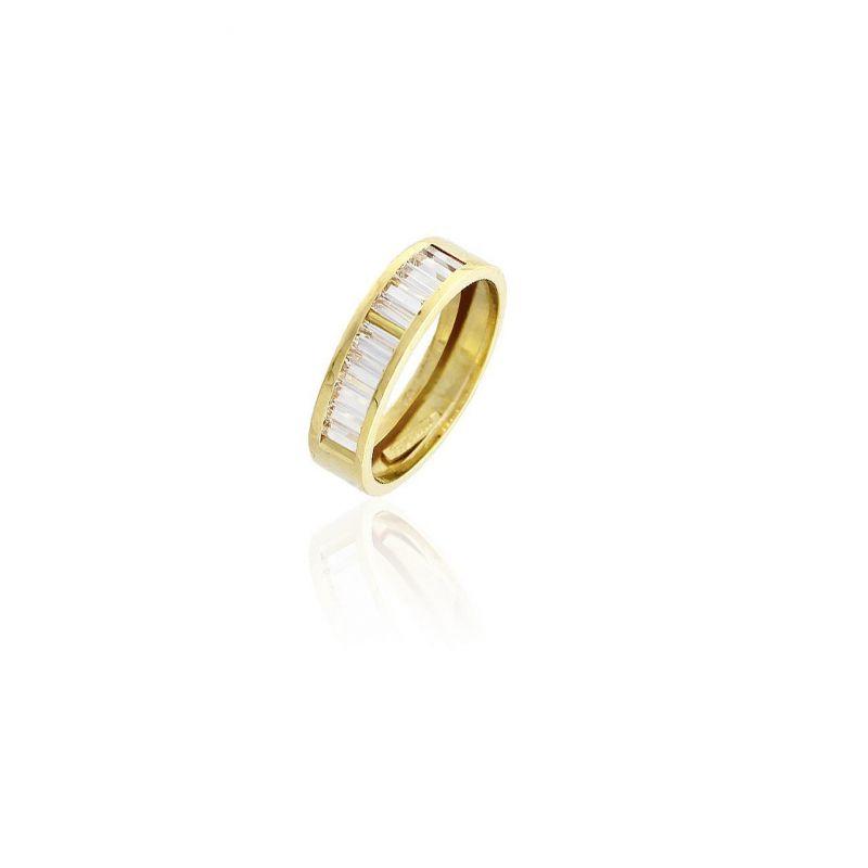 Anillo Oro 18k piedras barretas