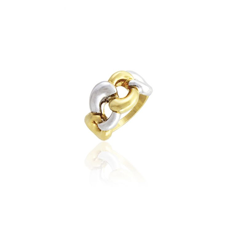 Anillo Oro 18kts bicolor Roselin Trendy