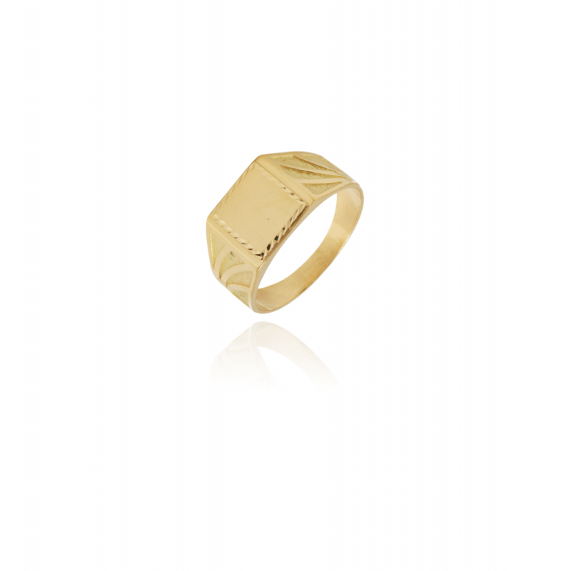 Sello rectangular Oro 18k