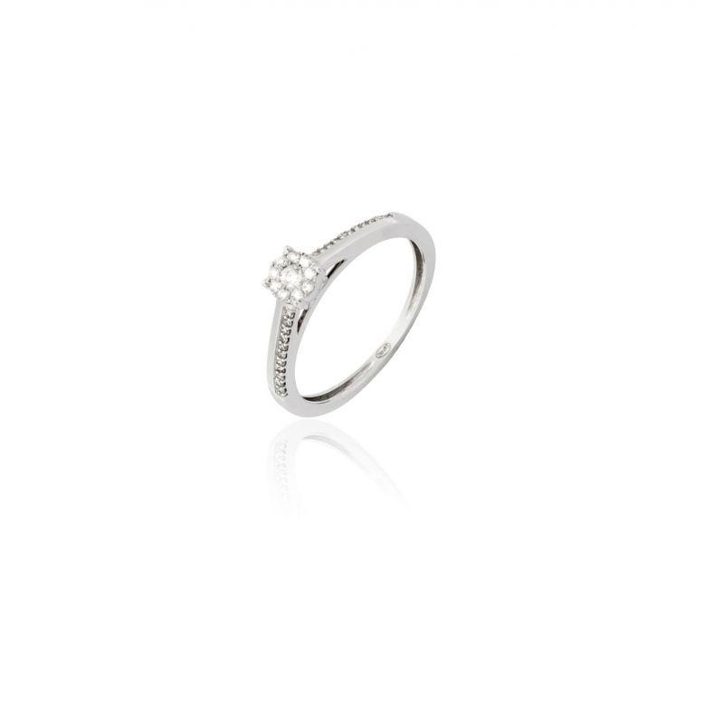 Anillo Diamante Oro Solitario 0.15 K(32) Nº17
