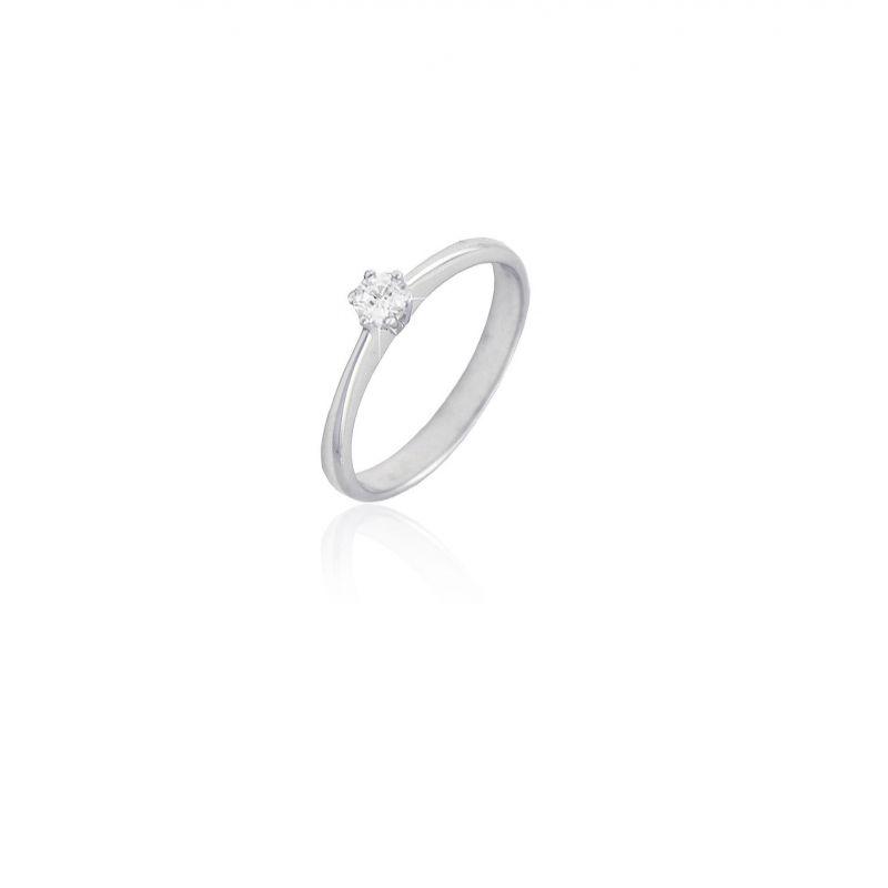 Anillo Diamante Oro Solitario 6 Garras 0.11(1) Nº1