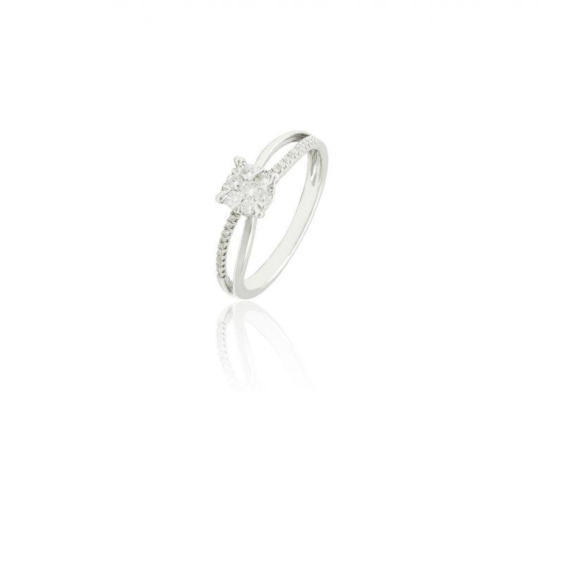 Anillo Diamante Oro Garras Calado 0.217(29) Nº15