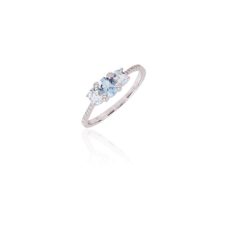 Anillo Diamante Oro Trilogia0.019(18) Topacio Nº 1