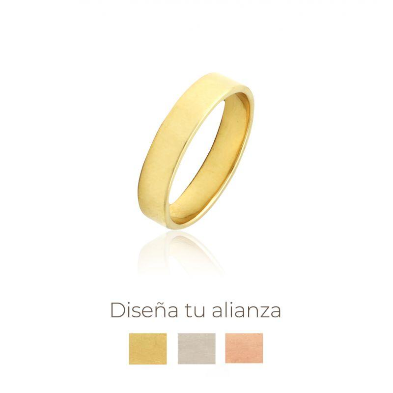 Alianza artesanal Oro 9kts plana 4mm