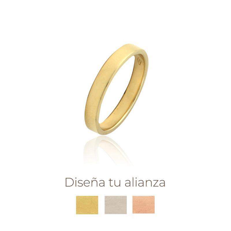 Alianza artesanal Oro 18kts plana 3mm