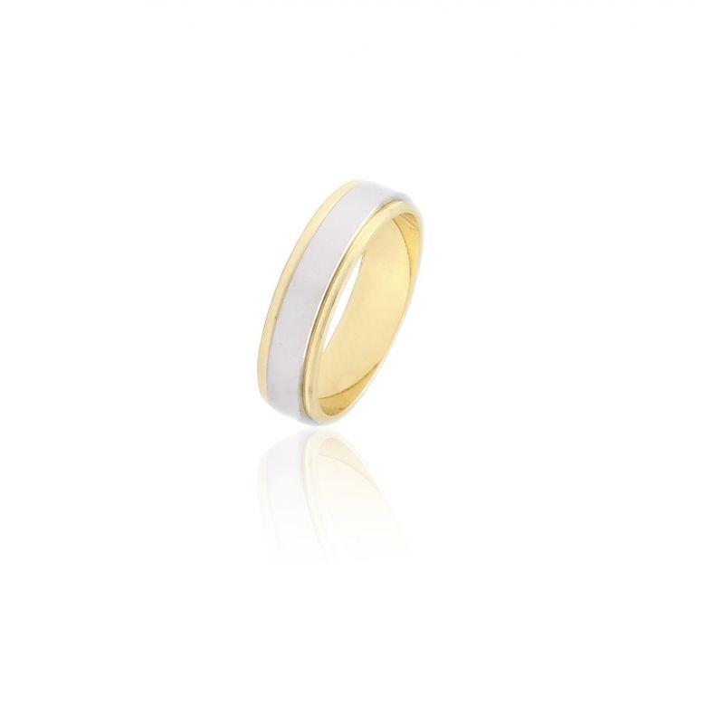 Alianza Oro 9k bicolor 5 mm