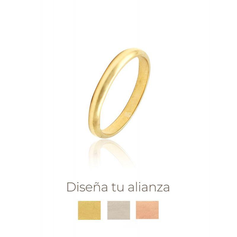 Alianza artesanal Oro 9kts 3 mm