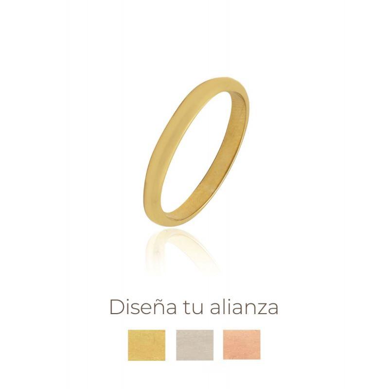 Alianza artesanal Oro 9 kts redonda 3 mm