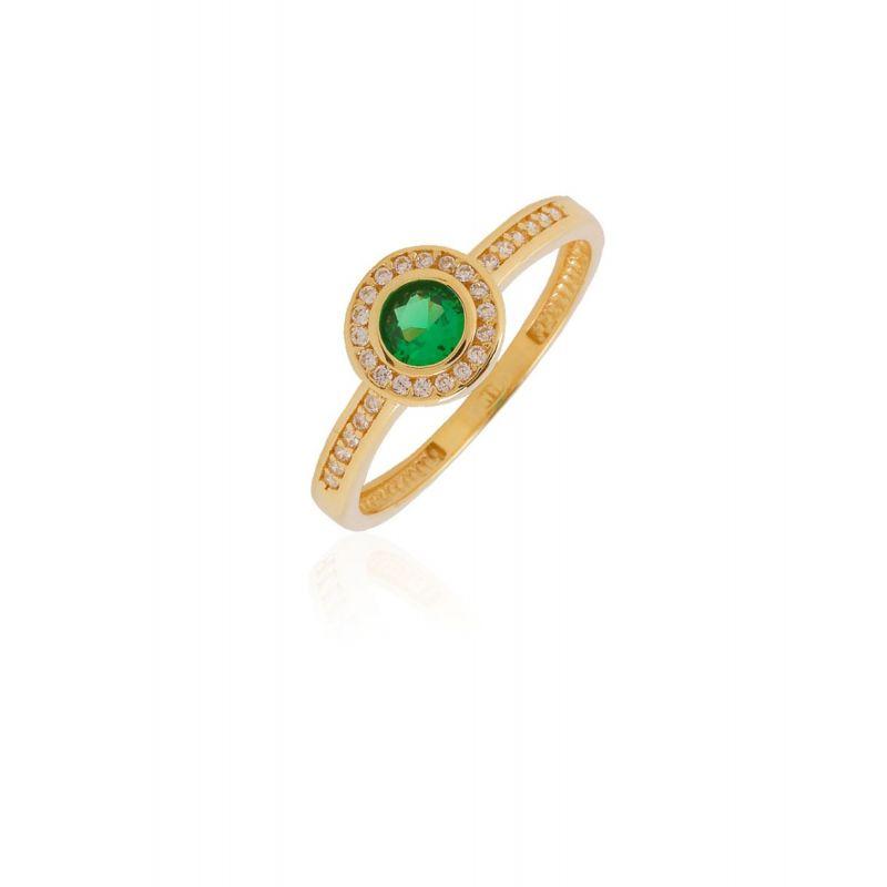 Anillo Oro 9k SELENE verde