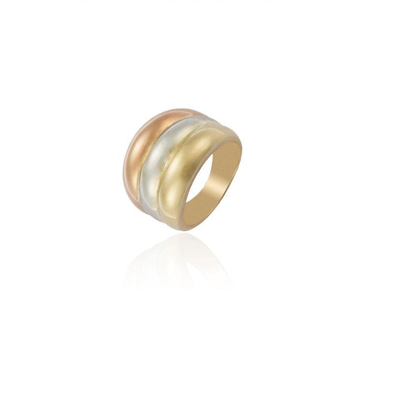 Anillo Oro 9 tricolor Roselin