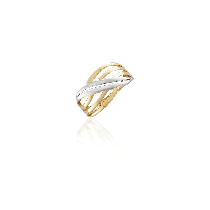 Anillo Oro 9k bicolor