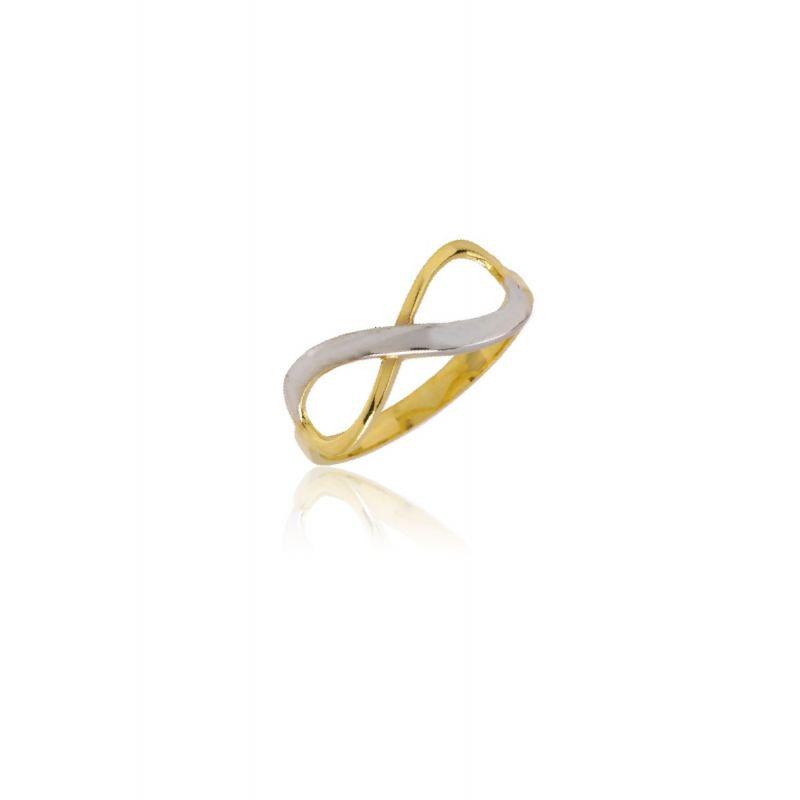 Anillo Infinito Oro 9kt Bicolor