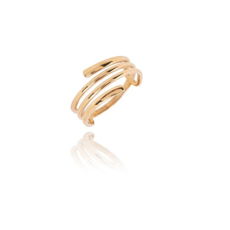 Anillo Oro 9k Espiral
