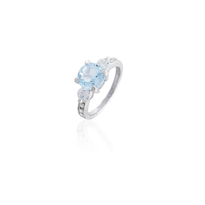 Anillo plata piedra azul Luxilver