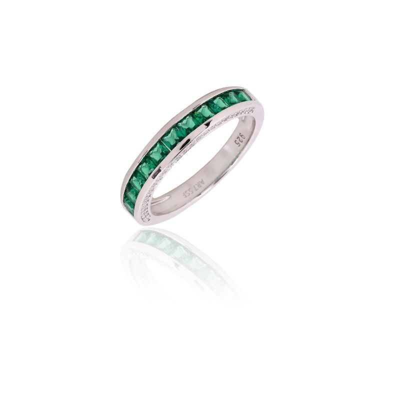 Anillo Plata verde COLOR