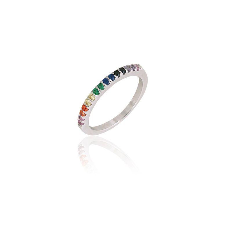 Anillo Rainbow Plata