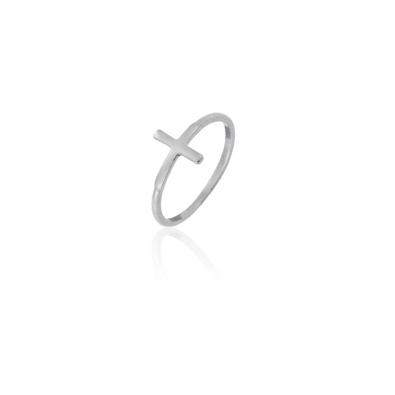 Anillo plata cruz Roselin Trendy
