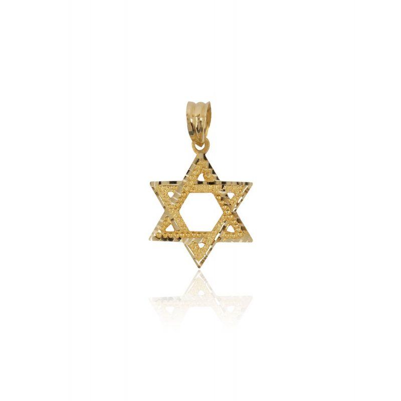 Colgante Oro 18k Estrella de David