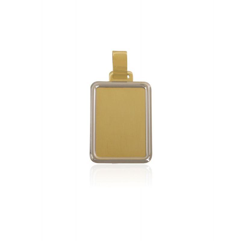 Colgante Oro 18k chapa bicolor