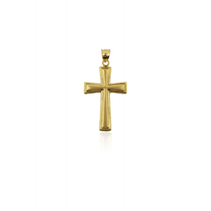 Colgante Oro 18k cruz satinada