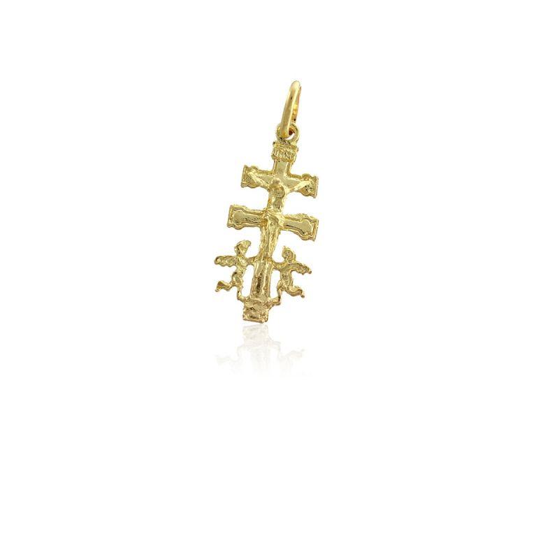 Colgante Oro 9kts Cruz de Caravaca