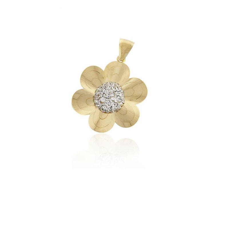 Colgante Oro 18 kts flor Roselin
