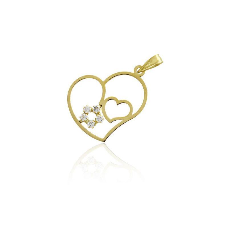 Colgante Oro 18k corazones Roselin