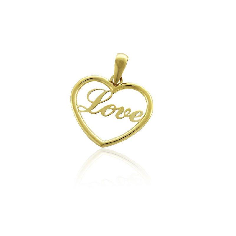 Colgante Oro 18k corazón love Roselin